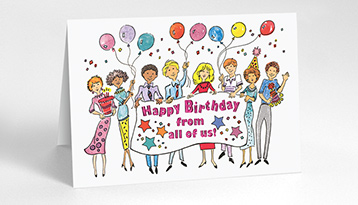 business greeting cards for all occasions  the gallery collection, Birthday card