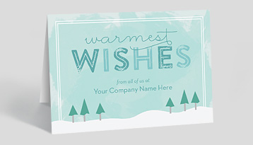 customizable front ink design - Holiday Christmas Cards