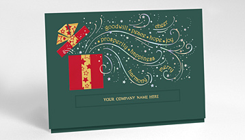 Business christmas cards corporate holiday cards the gallery feature your company name colourmoves