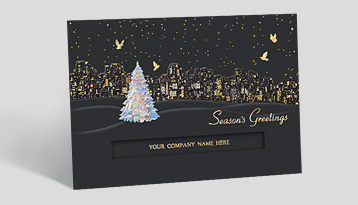 Business christmas cards corporate holiday cards the gallery feature your company name m4hsunfo
